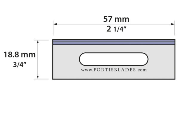 20.80.767-040   Slotted Razor Blade  -  Single Edge
