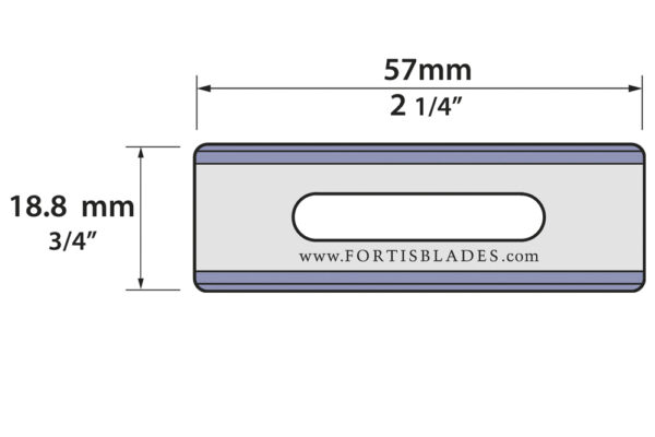 20.80.837-040   Slotted Razor Blade  -  Double Edge