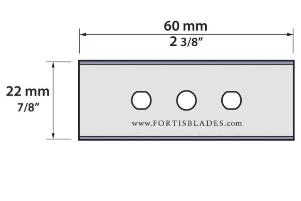 20.80.856-020    3-Hole Razor Blade 60mm