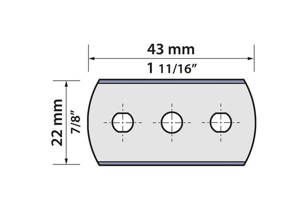 20.80.042-020 3-Hole Razor Blade